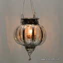 Glass Clear Hanging Lantern