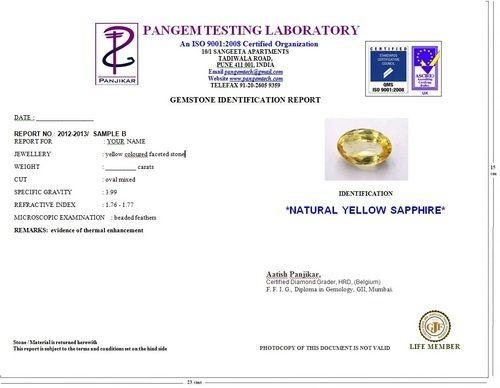 378ccf35c Gemstone Certification - Gemstone Report Service Provider from Pune