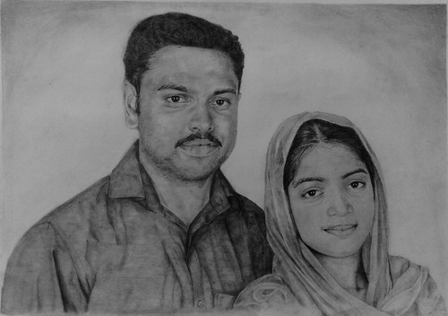 Pencil sketch works size a3