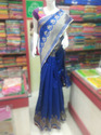 Blue Banarasi Net Saree