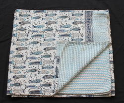Kantha Bed Cover Throw