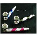 Flashing Brass Metal Tobacco Pipes
