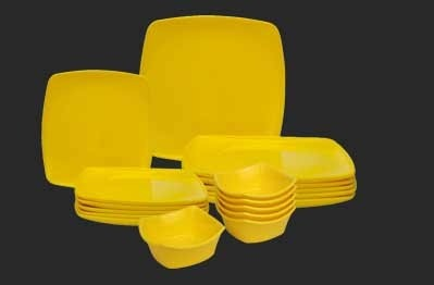 Cornet Yellow Dinner Set, Microwave Safe: Yes