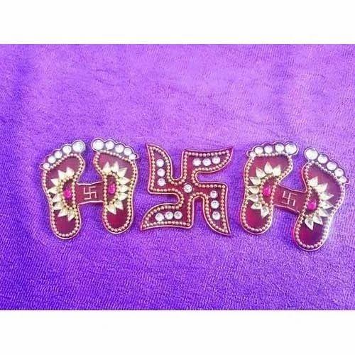 Laxmi Pagla With Swastik At Rs 70 Set Charan Paduka Id 11257622448
