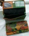 Bi Female Leather Screen Printing Wallet