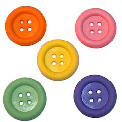 Multicolor Polyester Sewing Buttons, For Garments, Packaging Type: Packet