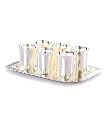 Gifts Vale German Silver 6 Glass Dinner Set  sc 1 st  IndiaMART & Gifts Vale German Silver 6 Glass Dinner Set at Rs 500 /piece   Shree ...