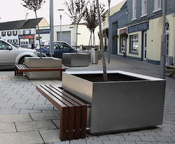 SS Planter With Bench