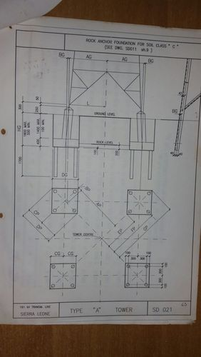 Civil Design and Drawings - Foundations Design for Switch Yard
