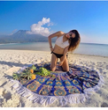 Mandala Round Towel Throw Tapestry