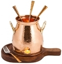 Wood Table Tandoor With Wooden Base