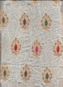 Zari Embroidery Motif Design Fabric