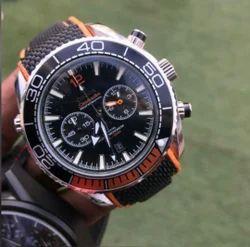 Analog Black Omega Seamaster Watch