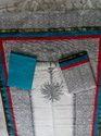 Stylish Block Printed Plain Chanderi Suit