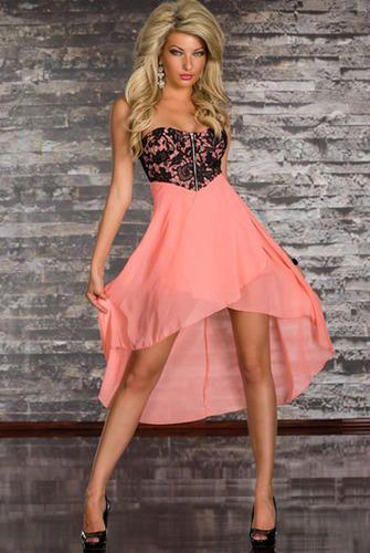 997ea4d340 Party wear eve hanger peach chiffon skirt out tube dress jpg 335x500 Peach  tube dress