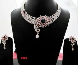 Fashion Necklace Set Ruby And Sapphire