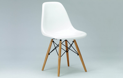 L 54 X W 46.5 X H 82cm Plastic Chair With Wooden Leg