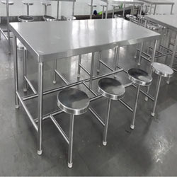 Beau Stainless Steel Dining Tables