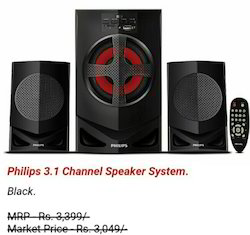 Philips 3.1 Channel Speaker System - Black