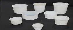White/black/Transparent Plain, Printed Plastic Food Containers