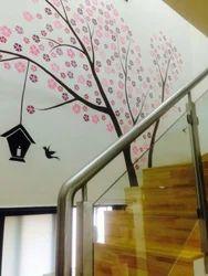 Black Home Decor Tree Wall Art For Living Room