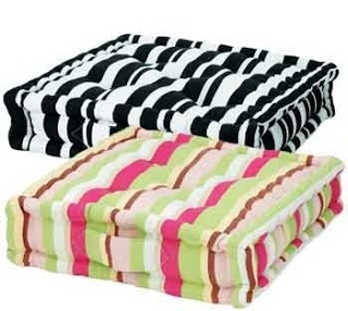 Cotton Printed Striped Floor Cushions