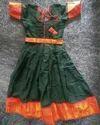Madurai Cotton With Kanchi Border Dress