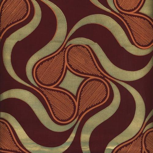Gold Print Fabric