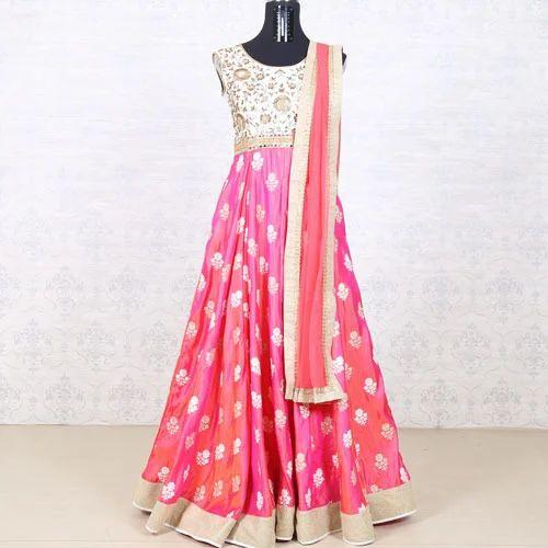 1b5aeb22ef Party wear anarkali - Gajri Silk Anarkali Suit Service Provider from ...