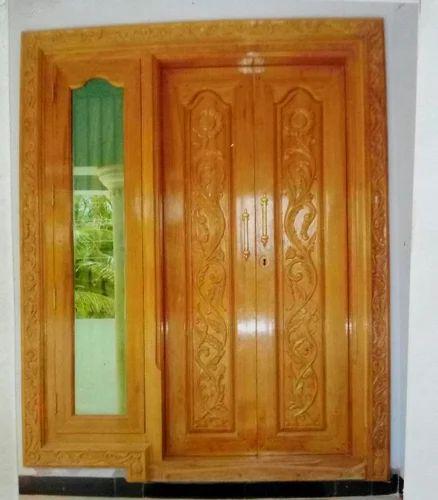 Wooden Door Frame Main Door Frame With Attach Window