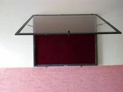 Notice Board With Glass Door (Hydraulic Cylinders)