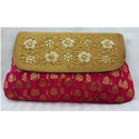 Brocade With Zardosi Work Clutch