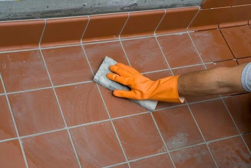 how to dry grout faster