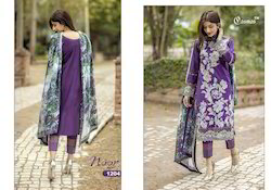 Party Wear Purple Pakistani Suit