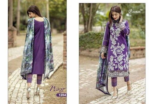 Party Wear Purple Pakistani Suit, Rs