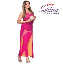 110 Colours 4d Stretched Cotton Rupa Softline Leggings, Free Size