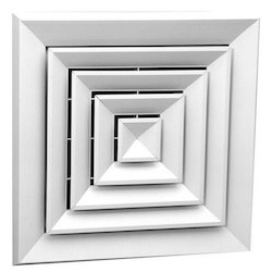 Powder Coated Ceiling Diffuser, Shape: Square
