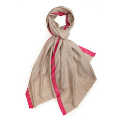 Silk Stripe Merino Super Wool Scarves