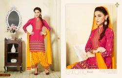 Patiyala Pure Cotton Designer Dress Material Salwar Suit