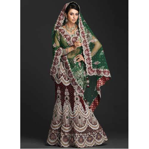 Indian Wedding Dress at Rs 5990 | Bridal Wedding Dresses | ID ...