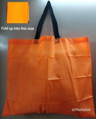 b42fc506d9 Black And Navy Eco Polyester Cloth Tote Handle Shopping Bag