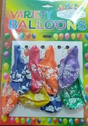 Variety Flower Balloon Pack Of 8