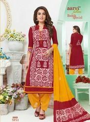Aarvi Cotton Bhatik Salwar Suits
