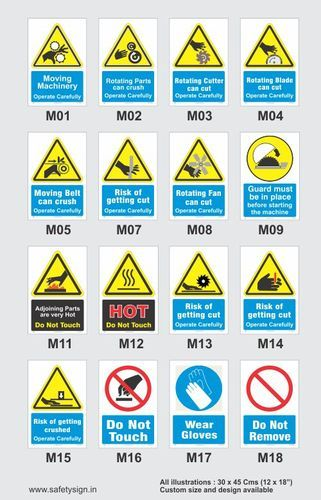 Workplace Safety Signs at Rs 350 /piece | सुरक्षा साइनेज ...