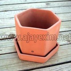 Red Custom Shape Clay Garden Planter