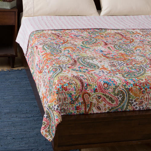 Bani Thani Print Bed cover Hand made kantha bed sheet Bed cover in Double size Rukman55