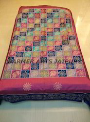 Silk Printed Bed Cover (Patchwork)