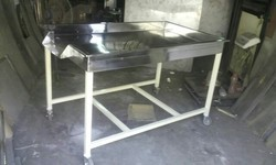 SS Vegetable Sorting and Working Table