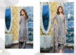 Chiffon Pakistani Party Wear Suits, Machine wash