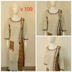Cotton Embroidered Ethnic Wear Kurti
